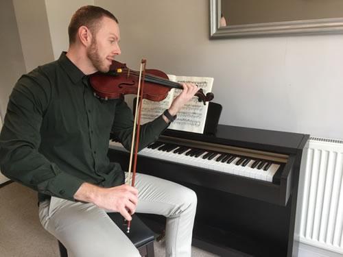 Violin music tutor